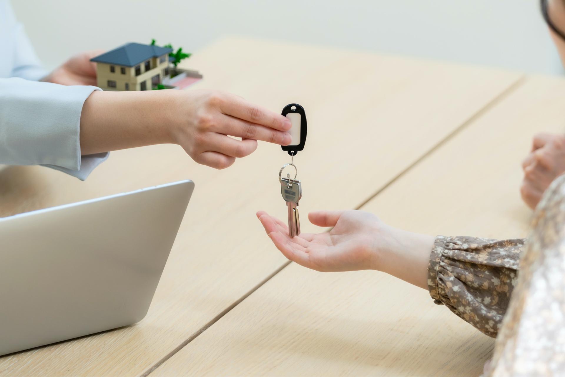 鍵の受け渡し・ご入居
